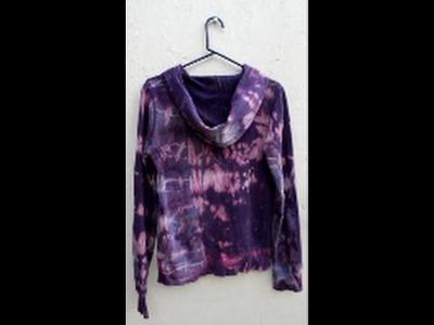 Reverse Tie Dye Sweatshirt or Hoodie- Acrylic Paint- DIY Style