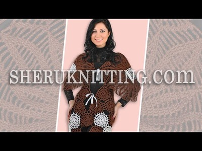 Round Motif Crochet Lace Tunic Model 3