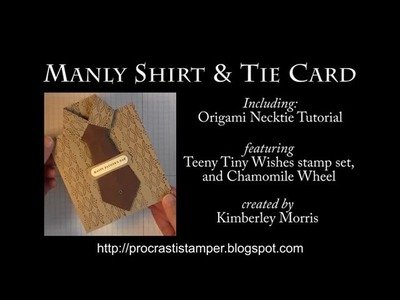 Shirt Card with Origami Necktie featuring Stampin' Up! Chamomile Wheel