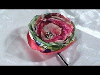Simple and Charm Fabric Flower from Scraps, Bobby pin, Tutorial, DIY