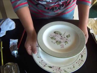 Simple Craft: Dessert Pedestal Tutorial DIY Recycled Dishes & Plates