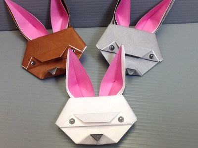 Spring Easter Origami Rabbit - Print at Home