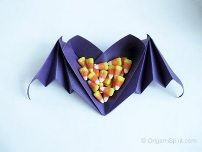 The Perfect Candy Corn  Dish -Origami timelapse
