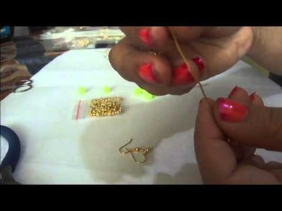Zarcillos neon o fluorescente super facil DIY  (tutorial paso a paso)