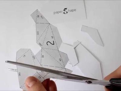 3D Origami Pferd Papercraft