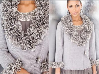 #9 Ruffle Wrap Cardigan, Vogue Knitting Early Fall 2012