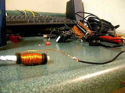 Basic DIY coilgun, coil gun disp camera assembly