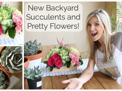 Bonus Video: New Backyard, Succulents and Flowers!