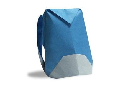 Cách gấp, xếp ba lô du lịch bằng giấy origami - Video hướng dẫn
