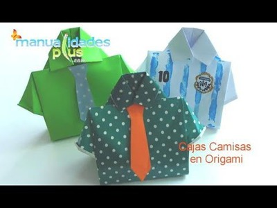 Cajas Camisa en Origami Día del Padre Origami Box T-shirt
