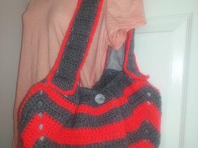 Como hacer un bolso de un cuadrado a crochet