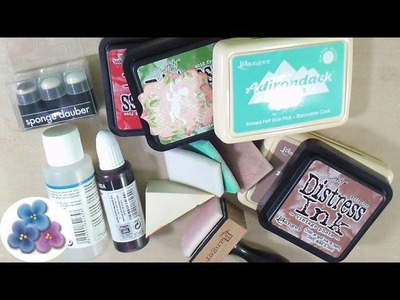 Como Sustituir la Tinta Distress y Blending Tool *Scrapbook Tutorial* Scrapbooking Pintura Facil