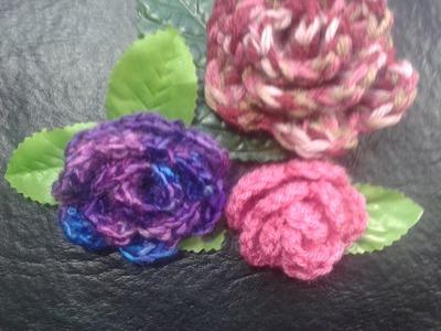 Como tejer rosas al crochet muy facil! (principiantes). Tejemos?!