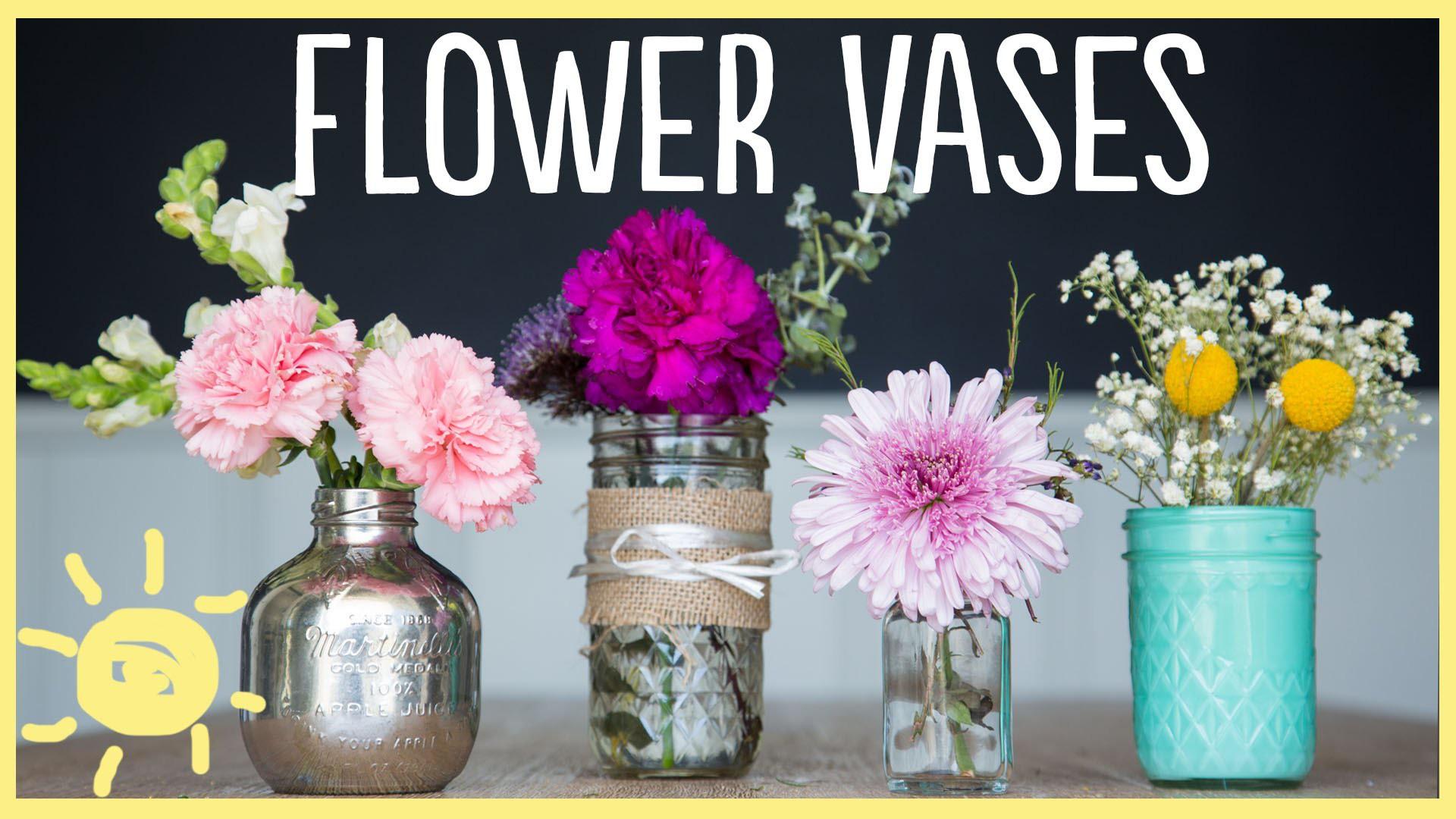 DIY | 3 Gorgeous Flower Vases (So Easy!!)