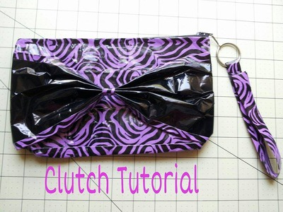DIY: How to make a Duct Tape Women's Bow Clutch Tutorial !!!