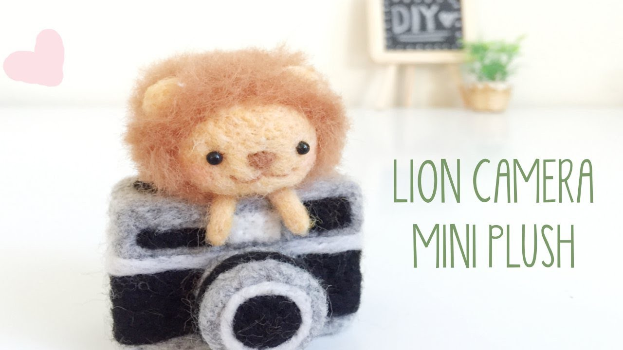 DIY Lion Camera Plush Needle Felt GIVEAWAY [Closed]