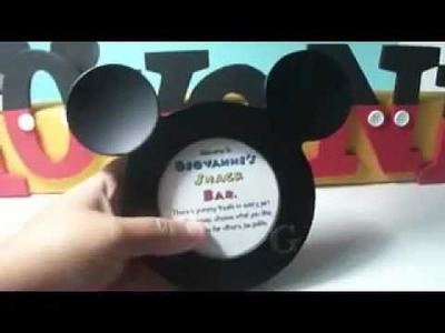 DIY Mickey Mouse Signs