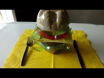 "DIY Recycled Crafts: ""Healthy"" Burger out of Plastic Bottles"