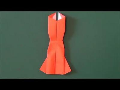 """すてきな「パーティードレス」折り紙 Great """"party dress"""" origami"""