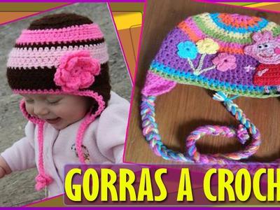 Gorras Para Bebe Niños Tejidas a Crochet
