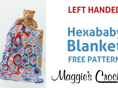 Hexababy Afghan Free Crochet Pattern - Left Handed