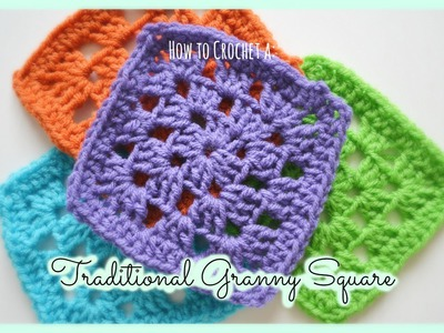 How to Crochet a Beginner's Easy Traditional Granny Square! | Ms. Craft Nerd