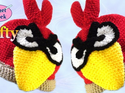 How to Make a Angry Bird Crochet Hat - Left Hand Version Crochet Geek
