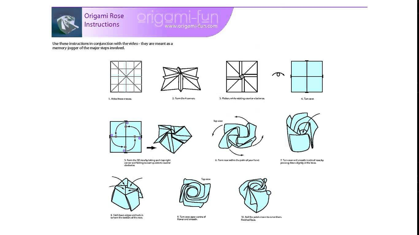Как сделать оригами розу для начинающих поэтапно