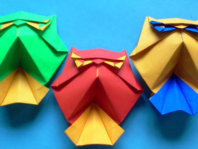 How to make Origami Bird Owl (Roman Diaz)