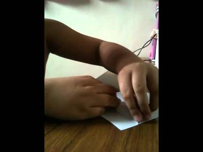 LANCE making Origami Tiburon