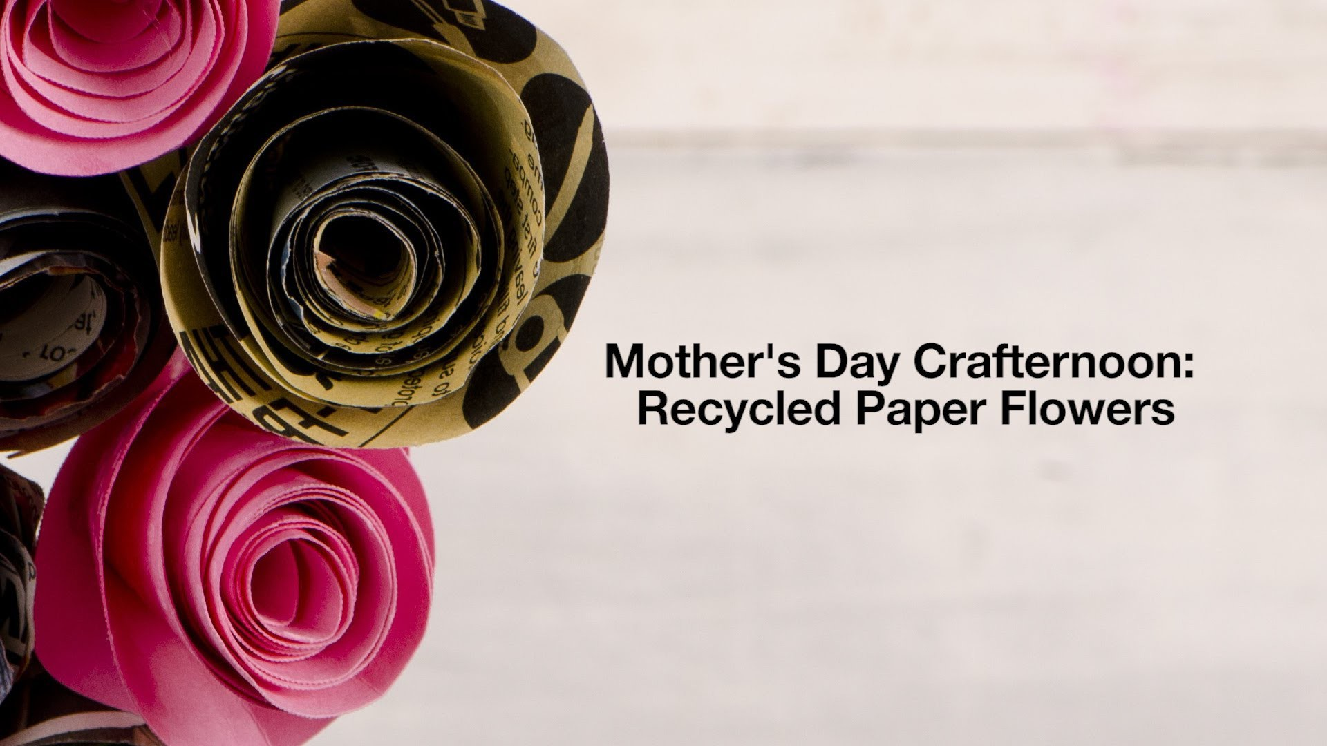 LUSH DIY: Recycled Paper Flowers