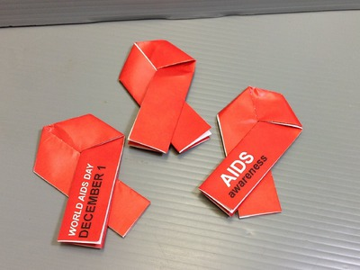 Make Your Own Origami AIDS Red Ribbon - World AIDS Day