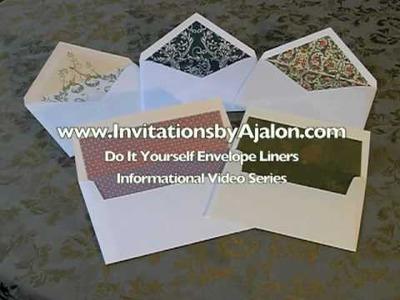 Making Your Own Envelope Liner- DIY Envelope Liner Instructions