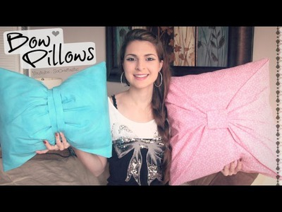 No-Sew BOW PILLOW cover ♥ How-To. DIY Room Decor