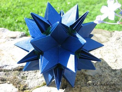 Origami ✿⊱╮Crocus Kusudama ✿⊱╮