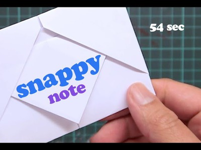 Origami envelope Note [in 55 sec]