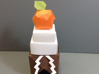 Origami New Year's Kagami Mochi Arrangement