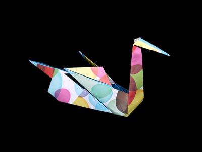 Origami Schwan (Swan): Faltanleitung [HD.DE] (Live erklärt)