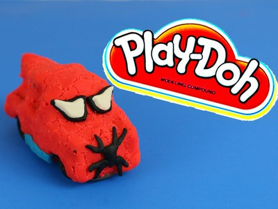 Play-Doh Superheroes Spider-Man Tutorial DIY Play Doh Disney Cars Mater Spiderman Dough