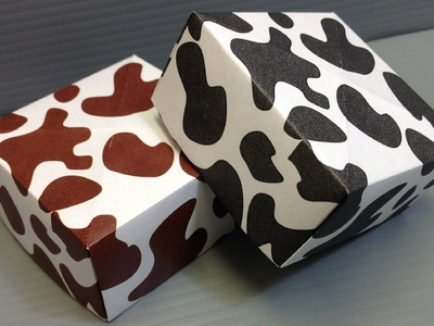 Print Your Own Cow Print Origami Paper
