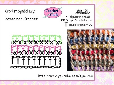 Streamer Crochet  Square Crochet Geek