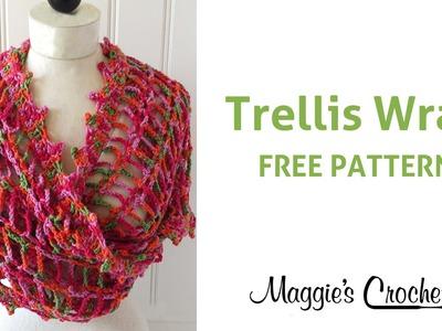 Trellis Wrap Free Crochet Pattern - Right Handed