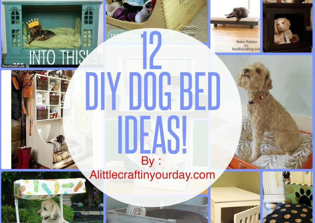12 DIY Dog Bed Ideas!
