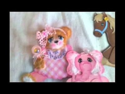 Baby girl and boy tear bears for scrapbooking pages albums or card