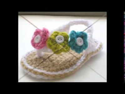 Baby girl crochet sandals free pattern