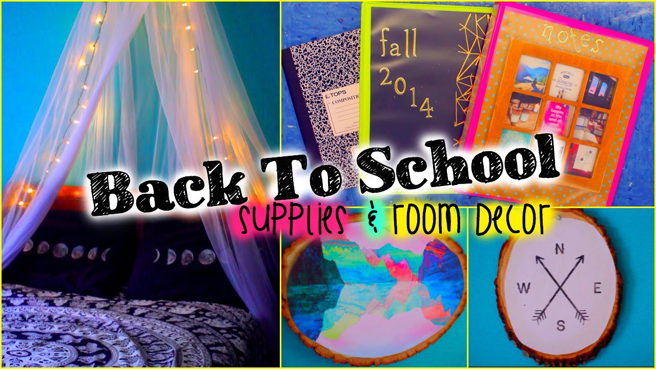 Back to School DIY supplies & room decor