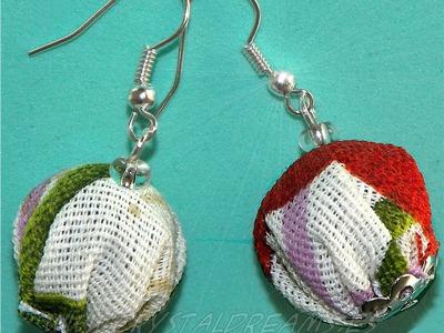 Beading Ideas - Fabric earrings