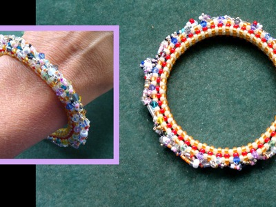Beading4perfectionists : Stitch nr 6: Cubic Right Angle Weave (CRAW)  bracelet beading tutorial