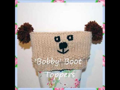 Bobby Teddy Bear Chunky Yarn Boot Wellies Toppers Leg Warmers Knitting Pattern