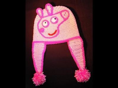 Σκουφακι Πεππα Γουρουνιτσα (μερος 1ο). Crochet Peppa Pig Hat (part 1)
